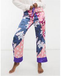 Liquorish Пижамные Штаны С Цветочным Принтом В Стиле Пэчворк -многоцветный