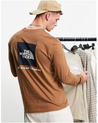 The North Face - Nse Box Back Print Long Sleeve T-shirt - Lyst