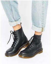 Dr. Martens Черные Ботинки С 8 Парами Люверсов -черный