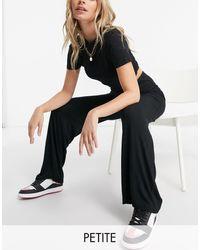Flounce London Pantalon basique ample à taille haute - Noir