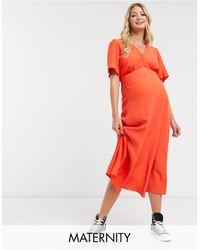 New Look Robe mi-longue - brûlé - Orange