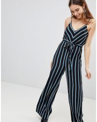 New Look - Stripe Strappy Jumpsuit - Lyst