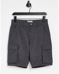 Only & Sons Pantaloncini cargo grigi - Grigio