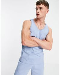 adidas Originals Майка Небесно-голубого Цвета Adicolor Marshmallow-голубой - Синий