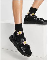 ASOS Factually Sporty Sandals - Black