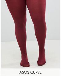 ASOS Asos Design - Curve - Super Stretch 90 Denier Panty's - Rood