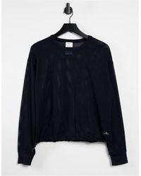 DKNY Top con cuello redondo - Negro