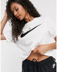 Nike T-shirt à double logo virgule - Blanc
