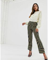 Vila Stripe Trousers - Multicolour