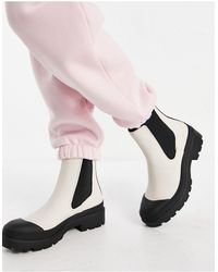 Pull&Bear Белые Ботинки С Контрастной Подошвой -белый