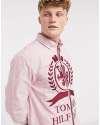 Tommy Hilfiger Полосатая Рубашка С Длинными Рукавами С Гербом Collections-красный