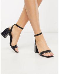 Pimkie Moc Croc Mid Sandals - Black