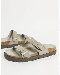 Bershka Slider Sandals With Buckles - Multicolour