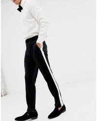 ASOS Skinny Smoking Pantalon - Zwart