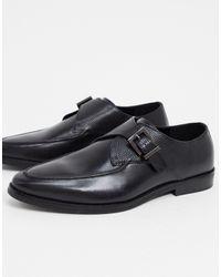 River Island Monk Shoes - Black