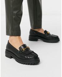 ASOS Milan Premium Chunky Leather Loafer - Black