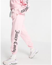 Juicy Couture Розовые Джоггеры С Блестящим Черным Логотипом (от Комплекта) -розовый Цвет