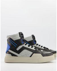ASOS Baskets montantes - et gris - Bleu