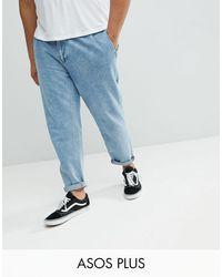 ASOS ASOS PLUS - Jean avec deux plis - délavé moyen - Bleu