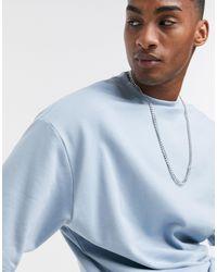 ASOS Organic Short Sleeve Sweatshirt - Blue