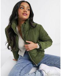 Miss Selfridge Short Puffer Jacket - Green