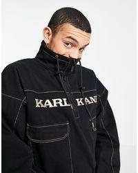 Karlkani Coupe-vent style rétro - Noir