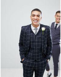 ASOS Asos Wedding - Skinny Colbert - Blauw