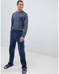 Tokyo Laundry Хлопковый Пижамный Комплект Темно-синего Цвета С Длинными Рукавами - Синий