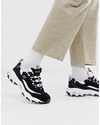 Skechers D'lites - Sneakers chunky nero bianco