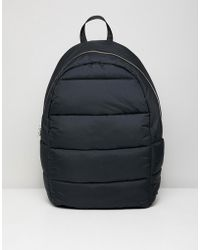 Weekday - Puff Backpack In Black - Lyst