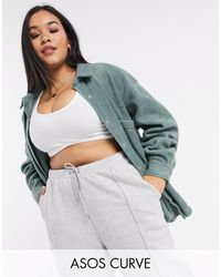 ASOS Asos Design Curve Oversized Shacket - Green