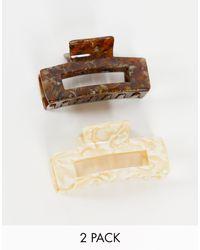 Reclaimed (vintage) Inspired 2-pack Hair Claws - Brown