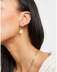 Monki Nisha Multipack Earrings - Metallic
