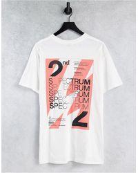 """TOPMAN Белая Oversized-футболка С Принтом """"spectrum"""" На Груди И Спине -белый"""