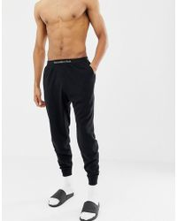 Abercrombie & Fitch Schwarze Jogginghose mit Logobund und Bndchen