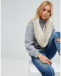 French Connection - Chunky Knitted Winter Scarf - Lyst