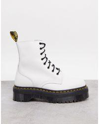 Dr. Martens Белые Кожаные Ботинки Jadon-белый
