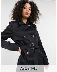 ASOS ASOS DESIGN Tall - Trench-coat - Noir