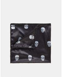Bolongaro Trevor – Einstecktuch mit Totenkopfdesign - Schwarz