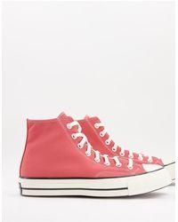 Converse - Высокие Кроссовки Терракотово-розового Цвета Chuck 70 Hi-розовый Цвет - Lyst