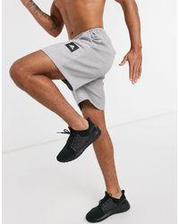 adidas Originals Adidas Training - BOS - Pantaloncini grigi con logo - Grigio