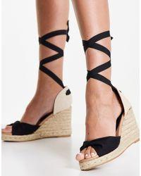 New Look – espadrilles-sandalen - Schwarz