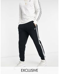 Fred Perry Taped Tricot joggers - Black