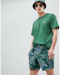 Pretty Green - X Katie Eary Swim Shorts In Dark Green - Lyst
