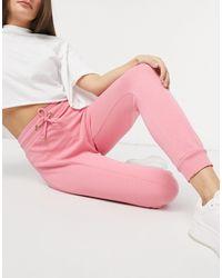 River Island High Waisted jogger - Pink