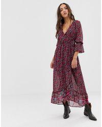 Band Of Gypsies Floral Print Midi Dress - Multicolour