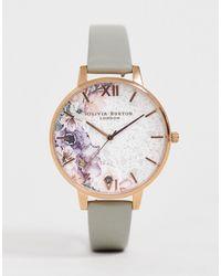 Olivia Burton Quartz Floral Watch - Gray