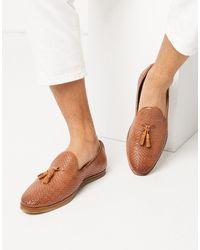 Walk London Коричневые Кожаные Лоферы С Кисточками -коричневый Цвет