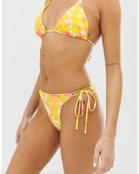 Bershka Triangle Bikini Bottom - White