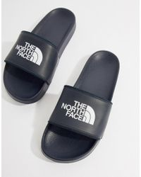 The North Face - Base Camp Sliders Ii In Navy/white - Lyst